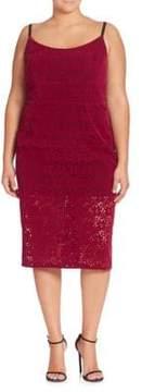 ABS by Allen Schwartz Floral Lace Sheath Dress