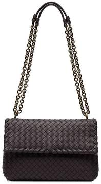 Bottega Veneta Smoked Purple Olympia woven leather shoulder bag