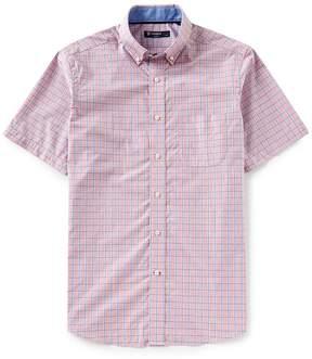 Daniel Cremieux Graph Check Poplin Short-Sleeve Woven Shirt