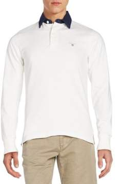 Gant Regular-Fit Contrast-Collar Polo Shirt