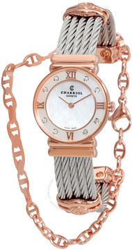 Charriol St Tropez Mother of Pearl Dial Ladies Watch 028PD1540552