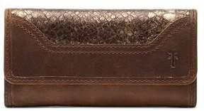 Frye Melissa Foiled Leather Wallet