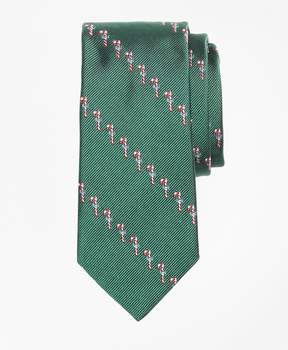 Brooks Brothers Candy Cane Print Tie