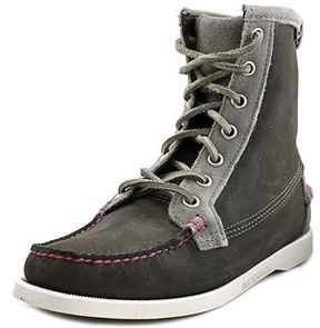 Sebago Lighthouse Women Round Toe Leather Ankle Boot.