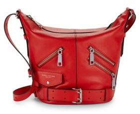 Marc Jacobs The Sling Motorcycle Convertible Leather Bag - LAVA RED - STYLE