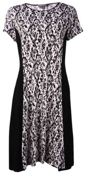 Vince Camuto Women's Panel Printed Dress (M, New Ivory)