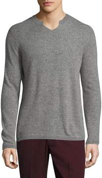 Autumn Cashmere Men's Cashmere Modified V-Neck Sweater