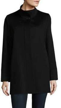 Fleurette Stand Collar Wool Coat