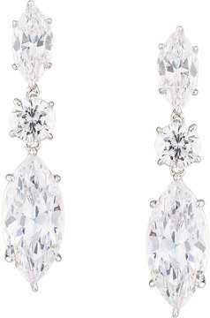 FANTASIA Marquise CZ Drop Earrings, White