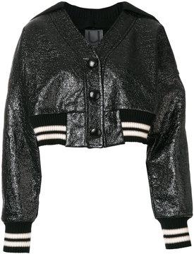 Aviu metallic fibre bomber jacket