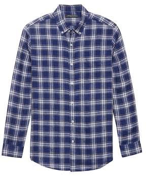 Banana Republic Camden Standard-Fit Plaid Linen Shirt