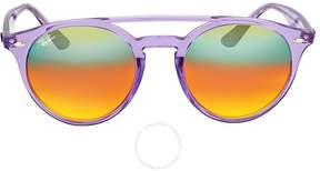 Ray-Ban Orange Gradient Mirror Round Sunglasses