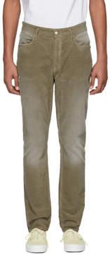 Nonnative Green Corduroy Dweller Trousers