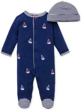 Little Me Baby Boys' 2-Piece Hat & Sailboat Coverall Set