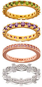 Elizabeth Taylor As Is The Set of 4 Simulated Gemstone Rings