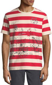 Burberry Fernbridge Striped Graphic T-Shirt