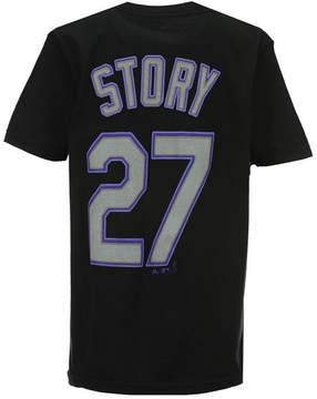 Majestic Trevor Story Colorado Rockies Official Player T-Shirt, Big Boys (8-20)