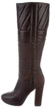 Calvin Klein Collection Quilted Knee-High Boots