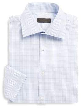 Ike Behar Cotton Plaid Shirt