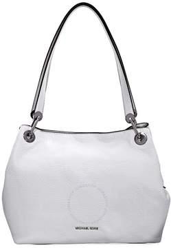 Michael Kors Raven Large Pebbled Leather Shoulder Bag- Optic White - ONE COLOR - STYLE
