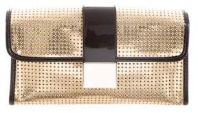 Just Cavalli Metallic Laser-Cut Clutch