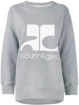 Courreges logo print sweatshirt