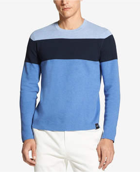 DKNY Men's Colorblocked Crew-Neck Sweater