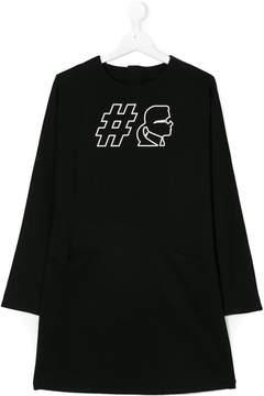 Karl Lagerfeld printed jersey dress