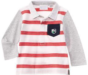 Chicco Boys' Red & White Striped Polo Shirt