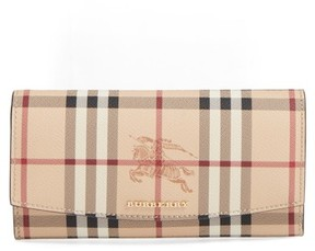 Burberry Women's Halton Haymarket Check Continental Wallet - Brown - BROWN - STYLE