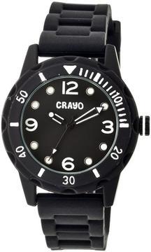 Crayo Splash Collection CRACR2202 Unisex Watch with Silicone Strap