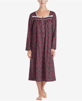 Eileen West Cotton Printed Ballet-Length Nightgown