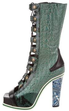 Rodarte Embossed Mid-Calf Boots w/ Tags