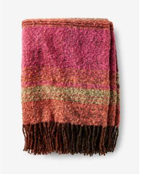 Express oversized striped fringe scarf
