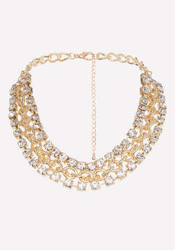Bebe Crystal Chain Necklace