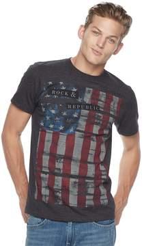 Rock & Republic Men's Textured Flag Tee
