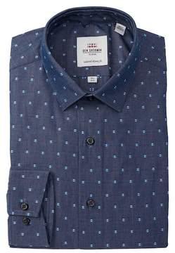 Ben Sherman Spot Chambray Tailored Skinny Fit Dress Shirt