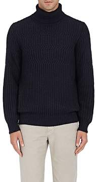 Luciano Barbera Men's Rib-Knit Alpaca-Blend Turtleneck Sweater