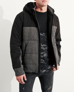 Hollister Sherpa-Lined Quilted Fleece Jacket