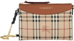 Burberry Haymarket Check Cross Body Bag - BEIGE - STYLE