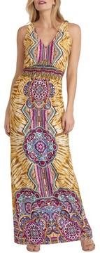 ECI Women's Print Maxi Dress