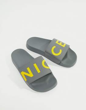 Nicce London logo sliders in gray