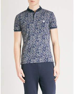 The Kooples Camouflage-pattern slim-fit cotton-piqué polo shirt