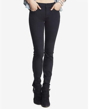 Express black mid rise stretch skinny jeans