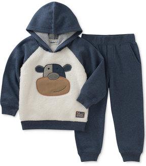 Kids Headquarters 2-Pc. Faux-Fur Monkey Hoodie & Jogger Pants Set, Baby Boys (0-24 months)