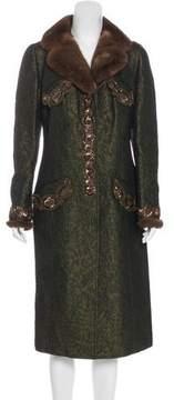 Andrew Gn Mink-Trimmed Embellished Coat
