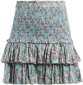 Etoile Isabel Marant Naomi floral-print ruffle-trimmed skirt