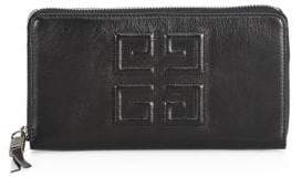 Givenchy Embelem Logo Zip Leather Continental Wallet
