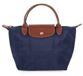 Longchamp Le Pliage Logo Accented Tote - NAVY - STYLE