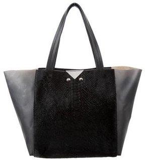 Emporio Armani Ponyhair & Leather Tote